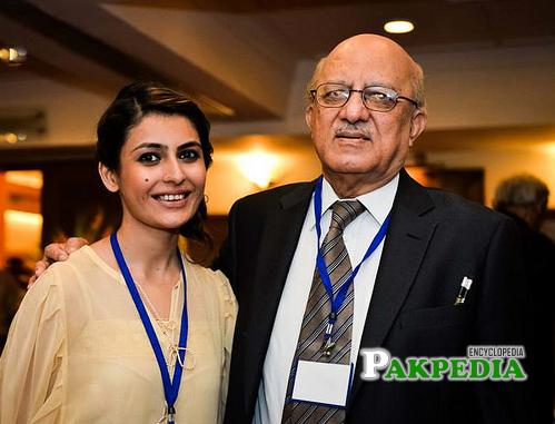 With daughter Haya iman