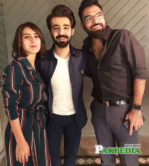 Hassan Hayat with Yasir Hussain and Iqra Aziz