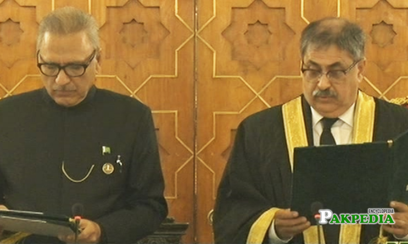 Justice Ather took oath as a chief justice