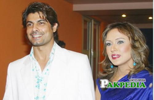 Sohail Sameer with ex wife Sophia Ahmad