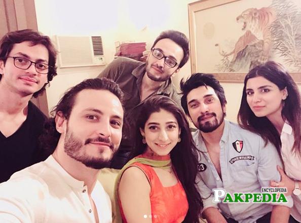 Mariyam Nafees with her showbiz friends