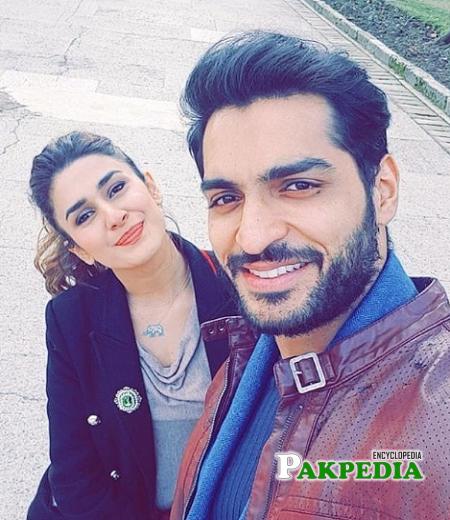 Omer Shehzad with Kubra Khan on sets of JPNA2