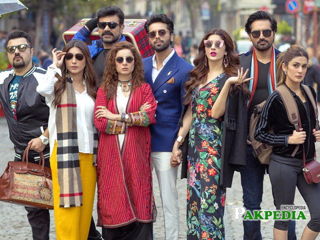 Fahad with the cast of jpna2