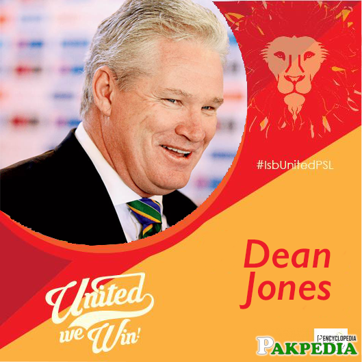Coach of Islamabad United Dean Jones