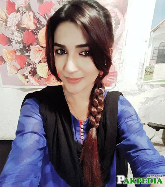 Rabab looking cute in braid