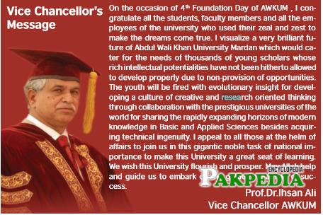 Vice Chancellor AWKUM