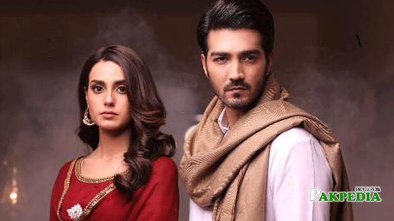 Shehzad with Iqra Aziz on sets