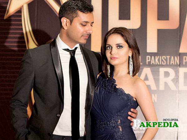 Armeena Khan with her fioncee
