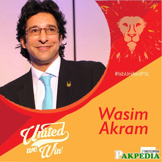 Director of the Team Waseem Akram Islamabad United