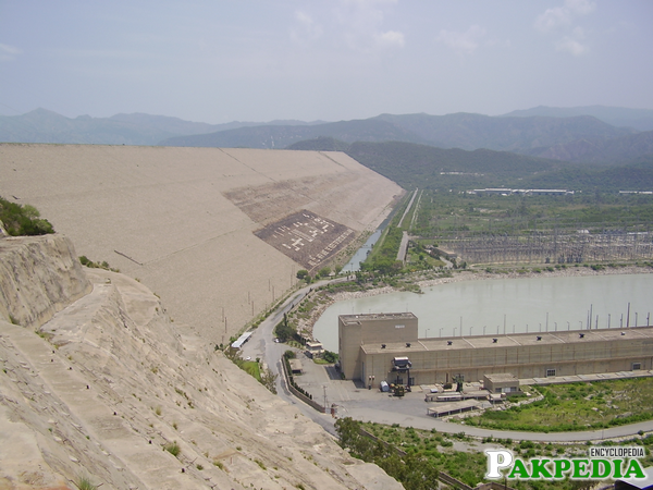 The Dam is located on the river Indus