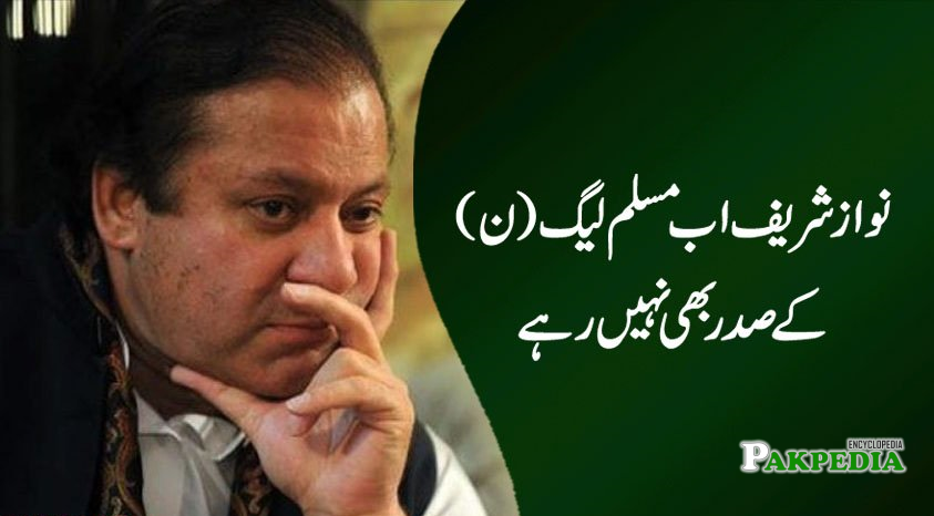Disqualified from PML-N President