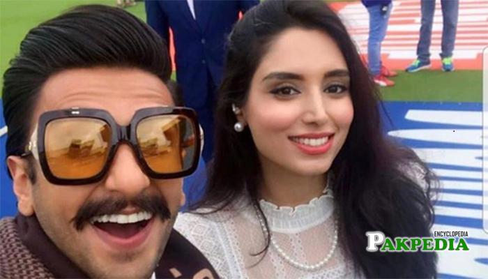 Zainab with Indian actor Ranveer