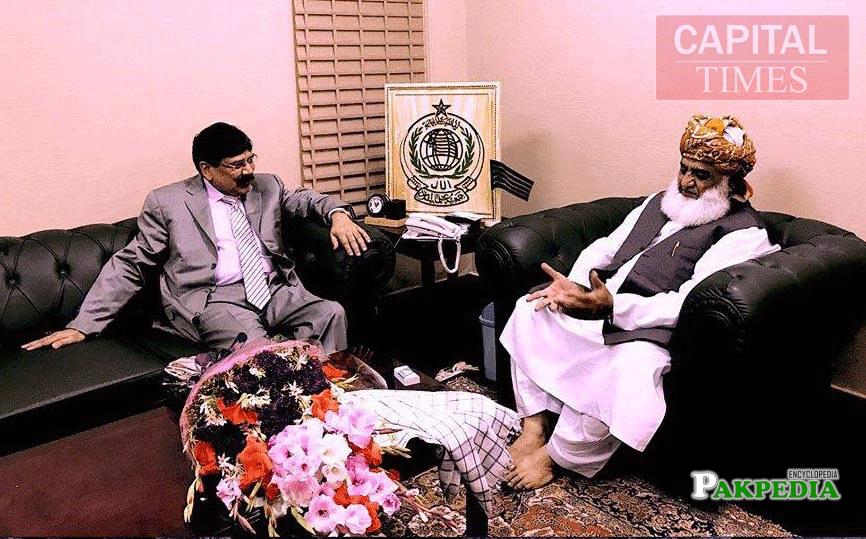 With Maulana Fazl-ur-Rehman