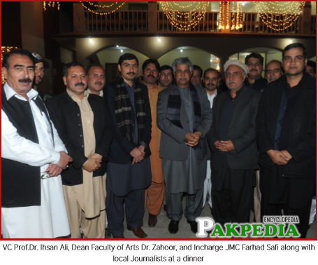 With Local Journalists at a Dinner