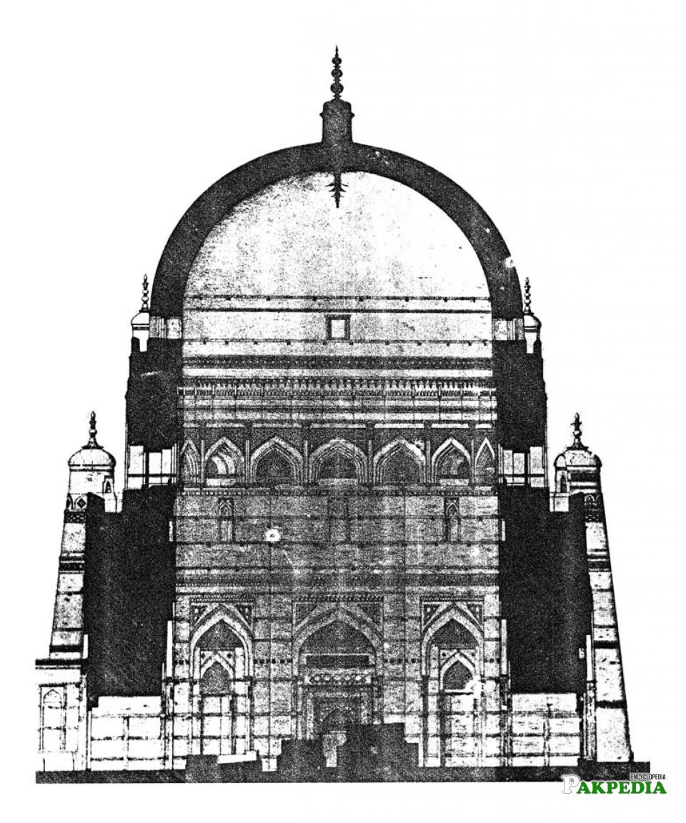Sketch of tomb