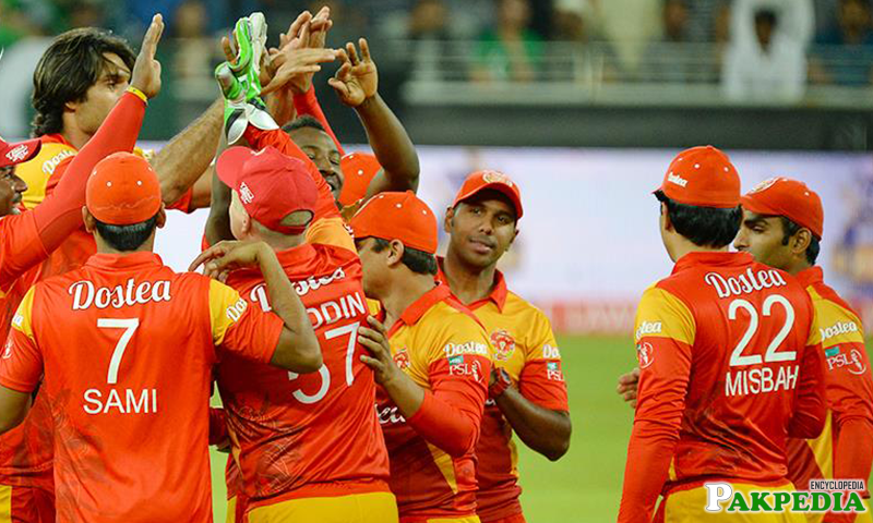 Islamabad United After Fall Wicket