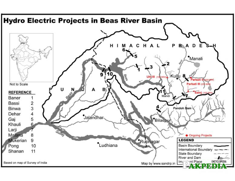 Hydroelectric projects in Darya-e Beas