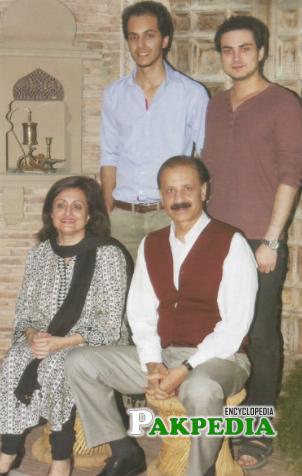 Bilal Lashari with his family