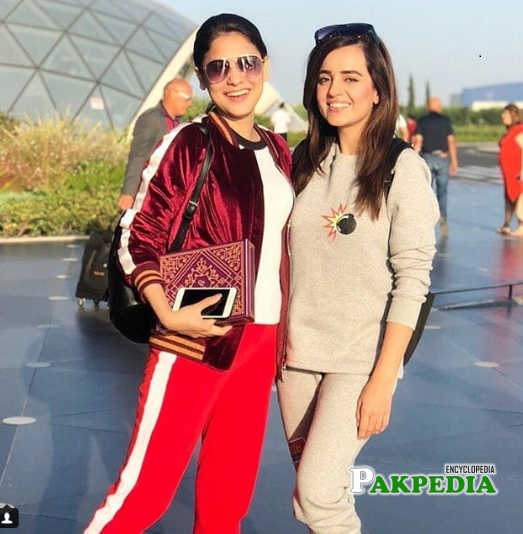 Hina with Sumbul Iqbal on vacations