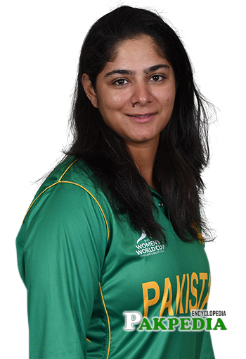 Pakistani cricketer Marina Iqbal