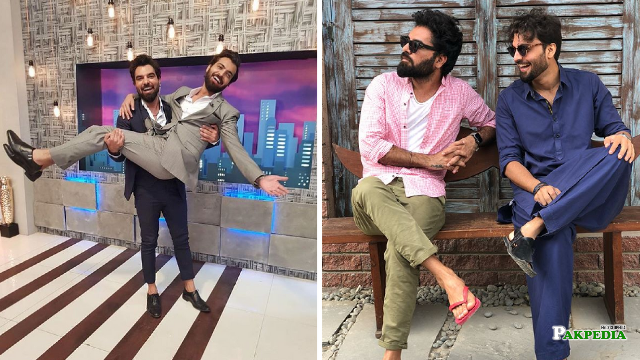 Yasir hussain with his best friend Asad Sadiqui