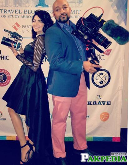With Husband filming an event