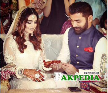 Anumta Qureshi on her engagement day