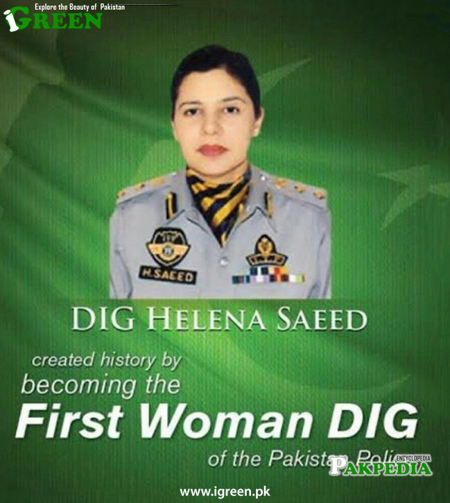 Helena Saeed appointed as first DIG police officer