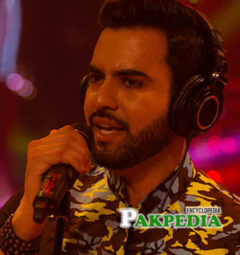 Junaid Khan while performing in a Coke Studio