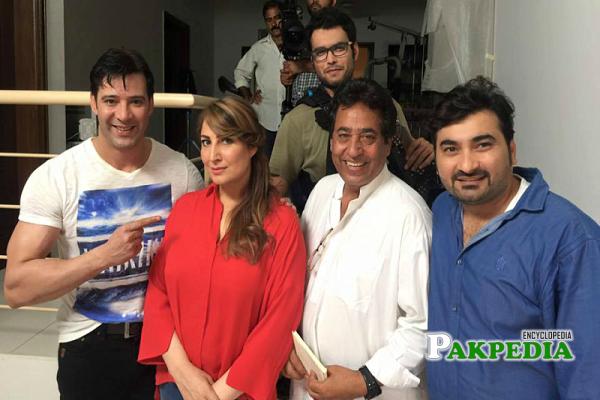 Saima Noor on set of her movie