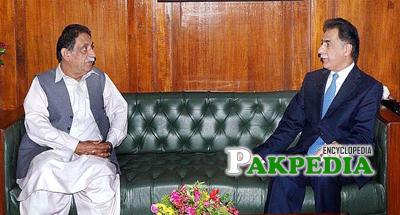Mir Jan muhammad Khan and Sardar Ayaz Sadiq at Parliment House